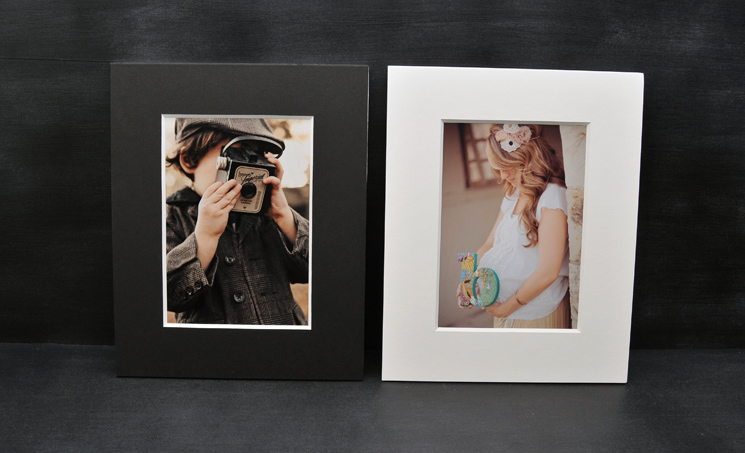 Matted prints for easy framing!