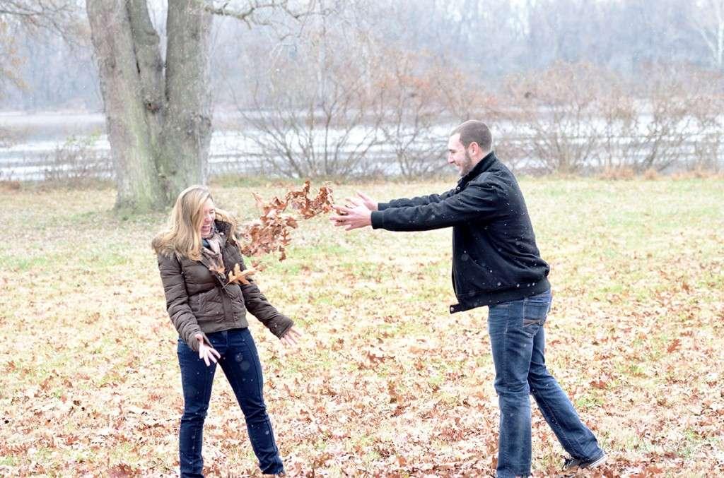 Throwing Leaves